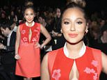 NEW YORK, NY - FEBRUARY 16:  Adrienne Bailon attends the Vivienne Tam fashion show during Mercedes-Benz Fashion Week Fall 2015 at The Theatre at Lincoln Center on February 16, 2015 in New York City.  (Photo by Astrid Stawiarz/Getty Images for Mercedes-Benz Fashion Week)