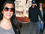UK CLIENTS MUST CREDIT: AKM-GSI ONLY\nEXCLUSIVE: Kourtney Kardashian and Scott Disick are all smiles after leaving a showing of 'Fifty Shades of Grey' at Edwards Cinema inside the Commons.  Kourtney looks great after having her third child as she continues to work off the post baby pounds.\n\nPictured: Kourtney Kardashian and Scott Disick\nRef: SPL953236  150215   EXCLUSIVE\nPicture by: AKM-GSI / Splash News\n\n