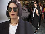 Jessie J with her bodyguard and entourage departing from Miami Airport after concert at Fillmore in Miami Beach. Jessie signed autographs and posed with fans.  Pictured: Jessie J Ref: SPL950461  160215   Picture by: MCCFL / Splash News  Splash News and Pictures Los Angeles: 310-821-2666 New York: 212-619-2666 London: 870-934-2666 photodesk@splashnews.com