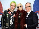 NEW YORK, NY - FEBRUARY 16:  Rich Hilfiger, Rita Ora and Tommy Hilfiger backstage at Tommy Hilfiger Women's Collection during Mercedes-Benz Fashion Week Fall 2015 at Park Avenue Armory on February 16, 2015 in New York City.  (Photo by Kevin Mazur/Getty Images for Tommy Hilfiger)