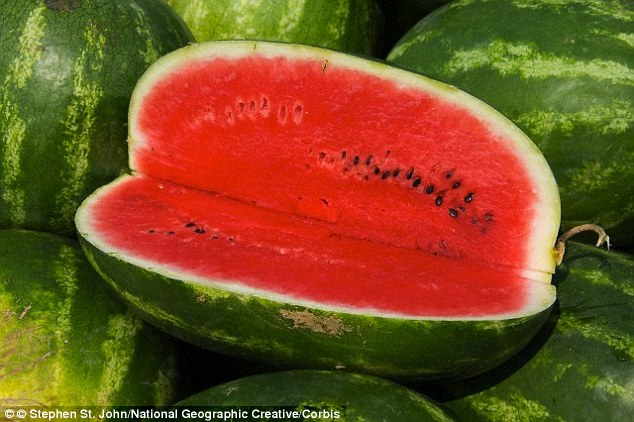 Watermelon contains lycopene, an antioxidant that will help sperm stay healthy, says Ms West. Guava, grapefruit, Sharon fruit and tomatoes also contain lycopene