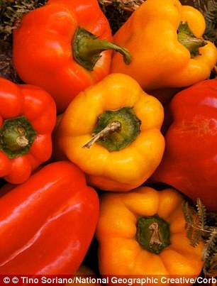 A good intake of anti-oxidants  protects the health of the head of the sperm (which contains the DNA). Red peppers contain N-acetylcysteine