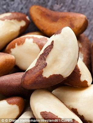 Brazil nuts contain Selenium, which protect the sperm