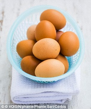 Eggs contain amino acids, the proteins that are the building blocks for healthy sperm