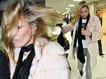 Picture Shows: Kate Moss  February 18, 2015\n \n Supermodel Kate Moss arrives at Glasgow Airport in Scotland. Kate was supported by a female friend who walked with her arm in arm through the airport. Kate looks casual in a fur coat, grey jeans and boots.\n \n Exclusive All Round\n WORLDWIDE RIGHTS\n \n Pictures by : FameFlynet UK © 2015\n Tel : +44 (0)20 3551 5049\n Email : info@fameflynet.uk.com