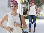 18.FEBRUARY.2015 - BRENTWOOD - USA\n*** EXCLUSIVE ALL ROUND PICTURES ***\nBRITISH SINGER LILY ALLEN VISITS A PHARMACY STORE WHILE OUT ABOUT IN BRENTWOOD, CALIFORNIA.\nLILY WORE A RED BANDANA IN HER HAIR WITH A WHITE VEST, RIPPED JEANS AND BROWN SUEDE PLATFORM HEELS.\nBYLINE MUST READ : XPOSUREPHOTOS.COM\n***UK CLIENTS - PICTURES CONTAINING CHILDREN PLEASE PIXELATE FACE PRIOR TO PUBLICATION ***\n**UK CLIENTS MUST CALL PRIOR TO TV OR ONLINE USAGE PLEASE TELEPHONE  44 208 344 2007**