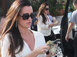 Please contact X17 before any use of these exclusive photos - x17@x17agency.com   Kylie Richards leaving lunch at Il Pastaio in Beverly Hills and giving the valet a 30 dollar tip February 18, 2015 X17online.com EXCL