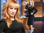 LATE NIGHT WITH SETH MEYERS -- Episode 166 -- Pictured: Comedian Kathy Griffin arrives on February 18, 2015 -- (Photo by: Lloyd Bishop/NBC/NBCU Photo Bank via Getty Images)