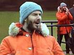 David Beckham is spotted at Liverpool FC's Academy ground where it is believed his son Brooklyn was playing football today, 19 February 2015.\n***These pictures are taken from the public road outside of the academy ground***\n19 February 2015.\nPlease byline: Peter Goddard/Vantagenews.co.uk\nUK clients should be aware children's faces may need pixelating.
