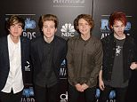 BEVERLY HILLS, CA - DECEMBER 18:  (L-R) Musicians Calum Hood, Luke Hemmings, Ashton Irwin, and Michael Clifford of 5 Seconds of Summer attend The PEOPLE Magazine Awards at The Beverly Hilton Hotel on December 18, 2014 in Beverly Hills, California.  (Photo by C Flanigan/Getty Images)