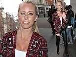 LONDON, ENGLAND - FEBRUARY 19:  Kendra Wilkinson seen at BBC Radio One on February 19, 2015 in London, England.  (Photo by Neil Mockford/Alex Huckle/GC Images)