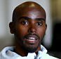 BIRMINGHAM, ENGLAND - FEBRUARY 20:  Mo Farah speaks to the press during a media session at the Crowne Plaza Hotel on February 20, 2015 in Birmingham, England. The Sainsbury's Indoor Grand Prix will take place at the Barclaycard Arena in Birmingham on 21st February 2015.  (Photo by Richard Heathcote/Getty Images)