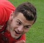ST ALBANS, ENGLAND - FEBRUARY 20: Jack Wilshere of Arsenal looks on during a training session at London Colney on February 20, 2015 in St Albans, England. (Photo by Stuart MacFarlane/Arsenal FC via Getty Images)