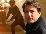 Tom Cruise and Rebecca Ferguson film a scene for Mission Impossible 5 in the City of London\nFeaturing: Tom Cruise\nWhere: London, United Kingdom\nWhen: 21 Feb 2015\nCredit: WENN.com