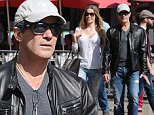 """Picture Shows: Nicole Kimpel, Antonio Banderas  February 19, 2015\n \n Actor Antonio Banderas and his girlfriend Nicole Kimpel enjoy a day of shopping at the Grove in Los Angeles, California. \n \n Antonio recently spoke about how his relationship with Melanie Griffith may have ended but insisted that their family is far from done saying, """"This hasn't exploded yet. We're going to keep seeing each other. We will continue. The family isn't dead, not at all.""""\n \n Exclusive All Rounder\n UK RIGHTS ONLY\n \n Pictures by : FameFlynet UK © 2015\n Tel : +44 (0)20 3551 5049\n Email : info@fameflynet.uk.com"""