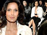 NEW YORK, NY - FEBRUARY 19:  Padma Lakshmi attends the J. Mendel fashion show during Mercedes-Benz Fashion Week Fall 2015 on February 19, 2015 in New York City.  (Photo by Ben Gabbe/Getty Images)