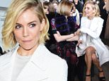 NEW YORK, NY - FEBRUARY 19:  Actress Sienna Miller attends the Calvin Klein Collection fashion show during Mercedes-Benz Fashion Week Fall 2015  at Spring Studios on February 19, 2015 in New York City.  (Photo by Mike Coppola/Getty Images for Mercedes-Benz Fashion Week)
