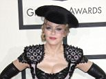 Mandatory Credit: Photo by Jim Smeal/BEI/REX (4419635gi)  Madonna  57th Annual Grammy Awards, Arrivals, Los Angeles, America - 08 Feb 2015