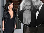 ***MANDATORY BYLINE TO READ INFPhoto.com ONLY***\nKim Kardashian shows ample cleavage as she steps out in all-black revealing plunging black dress in  New York City.\n\nPictured: Kim Kardashian\nRef: SPL952816  150215  \nPicture by: Dara Kushner/INFphoto.com\n\n