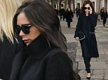 LONDON, ENGLAND - FEBRUARY 20:  Victoria Beckham attends a memorial service for Professor Louise Wilson during London Fashion Week Fall/Winter 2015/16 at St Paul's Cathedral on February 20, 2015 in London, England.  (Photo by Danny Martindale/WireImage)