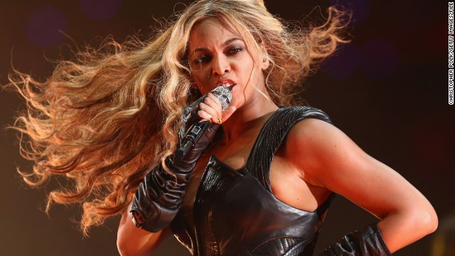Beyonce performs during the Pepsi Super Bowl XLVII Halftime Show at Mercedes-Benz Superdome on February 3, 2013 in New Orleans, Louisiana. (Photo by Christopher Polk/Getty Images