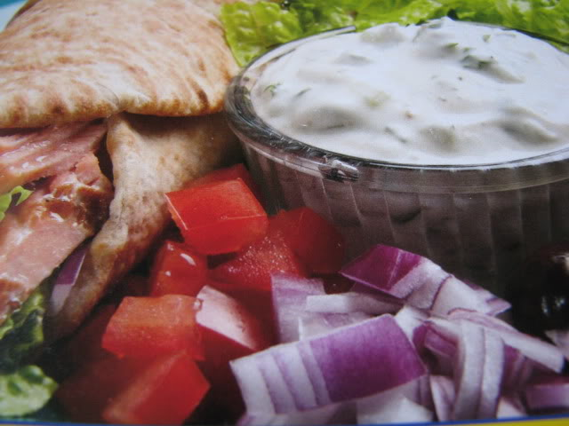 Gorton's Grilled Salmon Wrap with Fat-Free Tzatziki Sauce