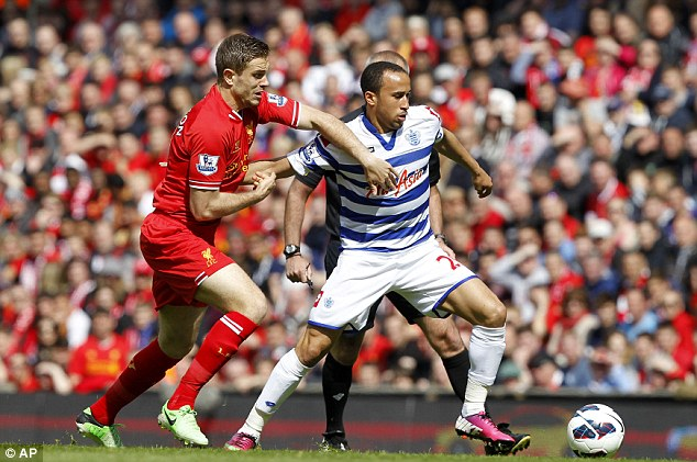 Down: Townsend could not stop QPR slipping through the Premier League trapdoor