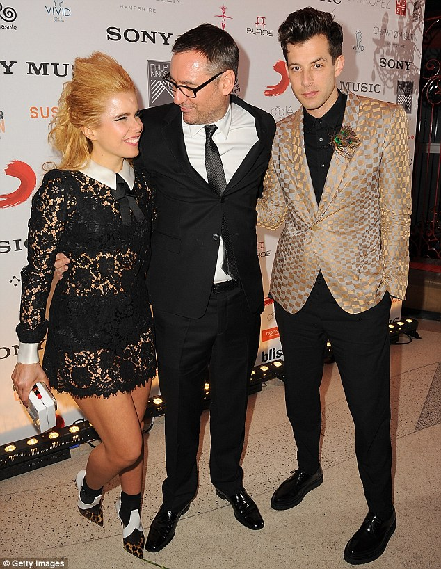 Networking:Paloma Faith and Mark Ronson were spotted catchnig up wih Sony Chairman & CEO of Sony Music UK Jason Iley