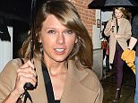 NON EXCLUSIVE PICTURE: PALACE LEE / MATRIXPICTURES.CO.UK PLEASE CREDIT ALL USES WORLD RIGHTS American singer-songwriter Taylor Swift is pictured as she arrives at London Luton Airport.  Earlier on in the evening, the 25 year old attended The BRIT Awards 2015, where she opened the show with a performance of her hit single Blank Space.  FEBRUARY 25th 2015 REF: LTN 15639