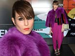 MILAN, ITALY - FEBRUARY 26:  Actress Noomi Rapace attends the Fendi show during the Milan Fashion Week Autumn/Winter 2015 on February 26, 2015 in Milan, Italy.  (Photo by Venturelli/WireImage)
