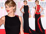 Taylor Swift arriving for the 2015 Brit Awards at the O2 Arena, London. PRESS ASSOCIATION Photo. Picture date: Wednesday February 25, 2015. See PA story SHOWBIZ Brits. Photo credit should read: Dominic Lipinski/PA Wire