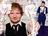 British singer-songwriter Ed Sheeran poses with his British album of the year award for 'X' and his British male solo artist award at the BRIT Awards 2015 in London on February 25, 2015. AFP PHOTO / LEON NEAL \n \nRESTRICTED TO EDITORIAL USE, TO ILLUSTRATE THE EVENT AS SPECIFIED IN THE CAPTION, NO USE IN PUBLICATION DEVOTED TO SINGLE PERFORMERLEON NEAL/AFP/Getty Images