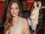 LONDON, ENGLAND - FEBRUARY 26:  Lindsay Lohan attends the Mert & Marcus House of Love party for Madonna at Annabel's on February 26, 2015 in London, England.  (Photo by David M. Benett/Getty Images for Annabel's)