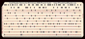 Aperture Card Base = IBM Punch Card