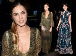 MILAN, ITALY - FEBRUARY 28:  Amber Le Bon attends the Roberto Cavalli show during the Milan Fashion Week Autumn/Winter 2015 on February 28, 2015 in Milan, Italy.  (Photo by Venturelli/WireImage)