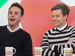 EDITORIAL USE ONLY. NO MERCHANDISING  Mandatory Credit: Photo by Steve Meddle/ITV/REX (4466473av)  .Anthony McPartlin and Declan Donnelly,  'Loose Women' TV Programme, London, Britain. - 27 Feb 2015