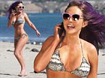 Picture Shows: Nikki Lund  February 27, 2015\n \n Fashion Designer Nikki Lund shows off her bikini body and purple hair while enjoying a day at the beach in Malibu, California.\n \n Non-Exclusive\n UK RIGHTS ONLY\n \n Pictures by : FameFlynet UK © 2015\n Tel : +44 (0)20 3551 5049\n Email : info@fameflynet.uk.com