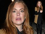 Actress Lindsay Lohan arriving at the Hakkasan restaurant in Mayfair, UK. 27/02/2015 BYLINE MUST READ : GOTCHAIMAGES.COM Copyright by    Gotcha Images Ltd. All rights reserved. Usage of this image is conditional upon the acceptance  of Gotcha Images Ltd, terms and conditions available at www.gotchaimages.com