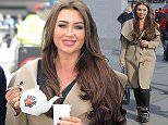 Picture Shows: Lauren Goodger  February 26, 2015    Entrepreneur and 'Dragon's Den' star Theo Paphitis poses with some celebrity friends (along with the country's largest teapot) at a photo call for Comic Relief in Trafalgar Square, London.    Theo are other guests were seen eagerly serving tea to members of the public.    Non Exclusive  WORLDWIDE RIGHTS    Pictures by : FameFlynet UK    2015  Tel : +44 (0)20 3551 5049  Email : info@fameflynet.uk.com