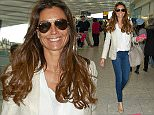 EXCLUSIVE: Melanie Sykes spotted flying out of Heathrow Airport  Pictured: Melanie Sykes Ref: SPL965268  040315   EXCLUSIVE Picture by: Splash News  Splash News and Pictures Los Angeles: 310-821-2666 New York: 212-619-2666 London: 870-934-2666 photodesk@splashnews.com