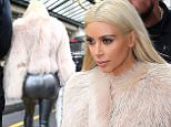 PARIS, FRANCE - MARCH 07:  Kim Kardashian is seen on March 7, 2015 in Paris, France.  (Photo by Marc Piasecki/GC Images)