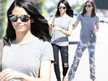 Picture Shows: Jenna Dewan, Jenna Dewan-Tatum  March 06, 2015\n \n Actress and busy mom Jenna Dewan is seen running her daily errands in Los Angeles, California. Jenna dressed casually in a grey t-shirt and floral sweatpants, before changing into black ripped skinny jeans.\n \n Non-Exclusive\n UK RIGHTS ONLY\n \n Pictures by : FameFlynet UK © 2015\n Tel : +44 (0)20 3551 5049\n Email : info@fameflynet.uk.com