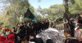 Residents of Syria's Efrin bid farewell to Kurdish YPG fighter
