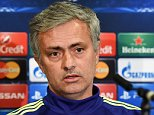 epa04656577 Chelsea manager Jose Mourinho speaks during a press conference in London, Britain, 10 March 2015. PSG will face Chelsea FC in the UEFA Champions League Round of 16 second leg soccer match on 11 March 2015.  EPA/ANDY RAIN