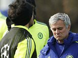 Football - Chelsea Training - Chelsea Training Ground, London, England - 10/3/15  Chelsea manager Jose Mourinho during training  Action Images via Reuters / John Sibley  Livepic  EDITORIAL USE ONLY.