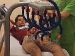 Bojan posted a video on his Instagram account with this machine working on his leg muscles