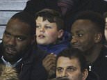 Mar 9th 2015 - Manchester, UK - MANCHESTER UTD V ARSENAL -  West Brom's Saido Berahino watches match from the stands PIcture by Ian Hodgson/Daily Mail