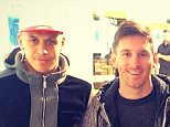 1ravel out and about with the maestro and reece @leomessi