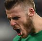 NEWCASTLE UPON TYNE, ENGLAND - MARCH 04:  David De Gea of Manchester United celebrates during the Barclays Premier League match between Newcastle United and Manchester United at St James' Park on March 4, 2015 in Newcastle upon Tyne, England.  (Photo by Laurence Griffiths/Getty Images)