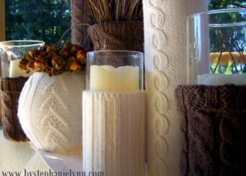 More Recycled Sweater Vases